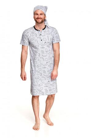 Pánská noční košile 108 FILIP L-2XL Jaro 2021 abstraktní 2XL