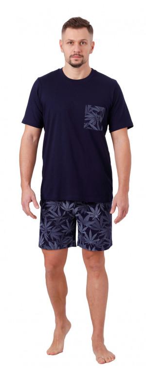 Pánské pyžamo TOMI 1064 tmavě modrá 2XL