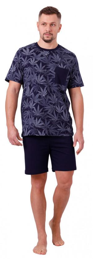 Pánské pyžamo THOMAS 1063 tmavě modrá 2XL