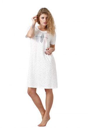 Dámská noční košile ZIZI 1036 bílá/šedá