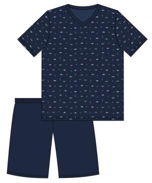 Pánské pyžamo 323/116 JIM modrá