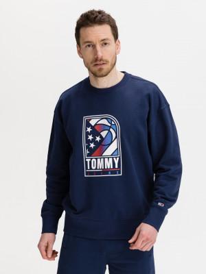 Basketball Logo Mikina Tommy Jeans Modrá