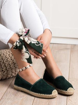 Praktické dámské zelené  tenisky bez podpatku