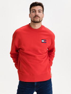 Badge Mikina Tommy Jeans Červená