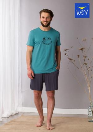 Pánské pyžamo MNS 709 A21 černá-zelená