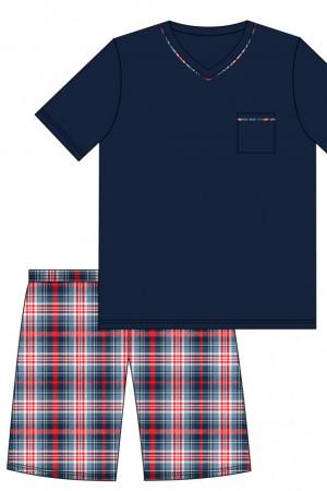 Pánské pyžamo 329/113 Steve  - CORNETTE tmavě modrá
