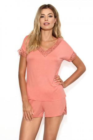 Dámské pyžamo GRETA cihlová