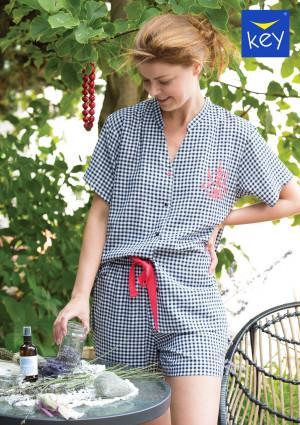 Dámské pyžamo Key LNS 451 4 A21 S-XL černá-bílá