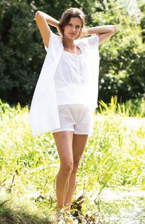 Dámské pyžamo Key LNS 130 A21 S-L bílá