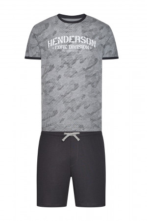 Pánské pyžamo 38877 Load  - Henderson šedá/černá
