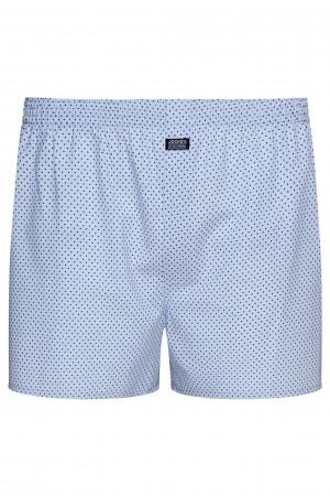 Pánské boxerky JOKEY Woven 315200H modrá - puntík