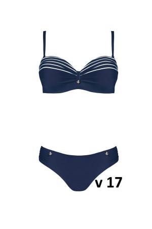 Dvoudílné plavky S730M9 modrobílá - Self modro-bílá