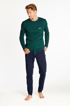 Pánské pyžamo ZION 38367 - Henderson zelená - modrá