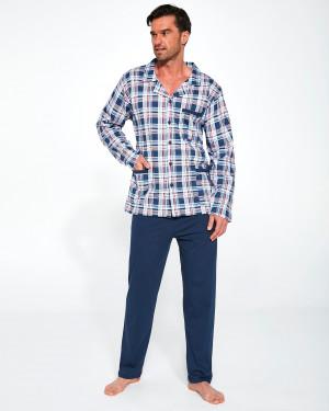 Pánské rozepínané pyžamo Cornette 114/45 dł/r 3XL-5XL tmavě modrá 3XL