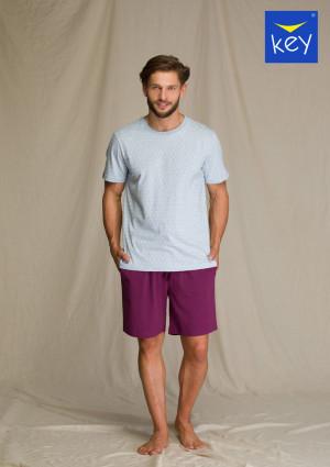 Pánské pyžamo MNS 810 A21 3XL-4XL modrá-bordó 3XL