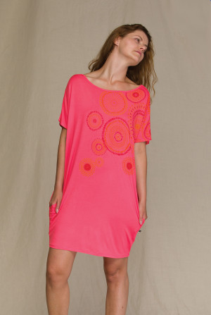 Dámská noční košile LHT 795 A21 - Key tmavě růžová