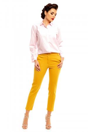 Dámské kalhoty model 128507 - Cabba hořčicová S-36