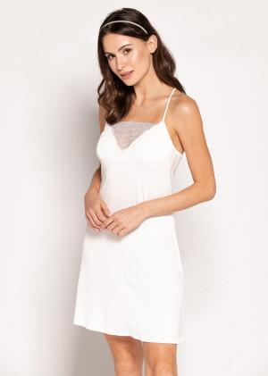 Dámská noční košile Babella Paola S-XL perlová