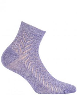 Dámské ponožky s lesklou přízí