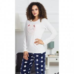 Dámské pyžamo Kitty - Vienetta bílá