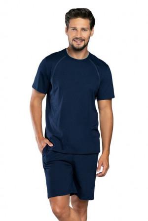 Letní pánské pyžamo Niko tmavě modré modrá