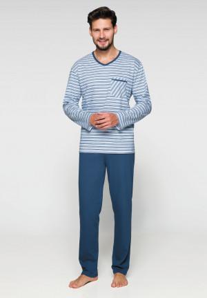 Pánské pyžamo 575 - Regina modro-bílá