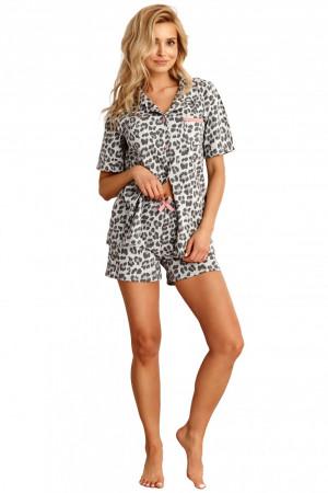 Dámské pyžamo 2154 Amy - TARO šedá