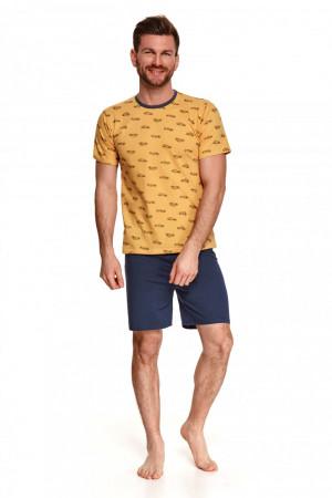 Pánské pyžamo 072 Max - TARO žlutá