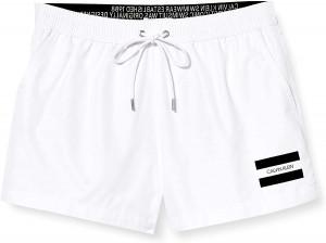 Pánské plavecké šortky KM0KM00441 YCD bílá - Calvin Klein bílá