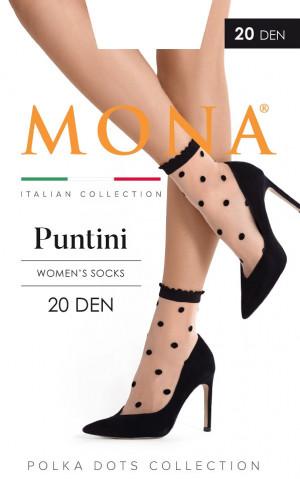 Dámské ponožky Mona Puntini 20 den nero univerzální