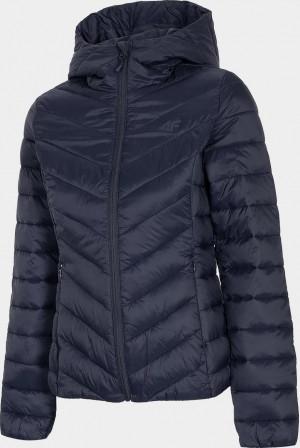 Dámská péřová bunda 4F KUDP004 tmavě modrá navy solid