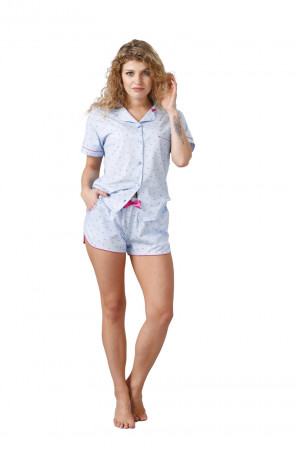 Dámské pyžamo NISSANA 1044 modrá