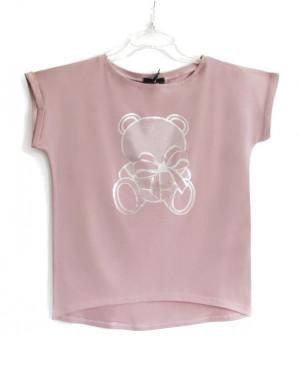 Dámské tričko AJS 9040 Medvídek béžová