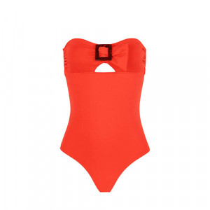 WIRELESS BANDEAU ONE-PIECE 1DDB15 Amalfi Orange(330) - Simone Perele Amalfi Orange 1