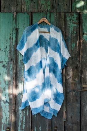 Dámské pareo Art Of Polo 20136 Hippie bílá -modrá 95x90 cm