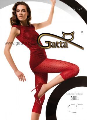 Dámské vzorované legíny Milli - GATTA červeno-černá 3-M