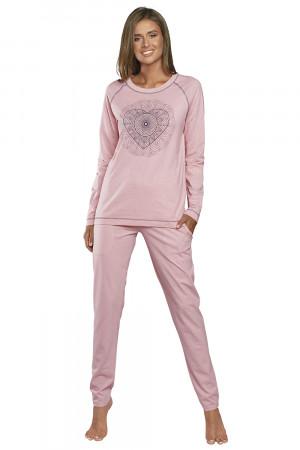 Dámské pyžamo Italian Fashion Eliksir dl.r. dl.k růžová s