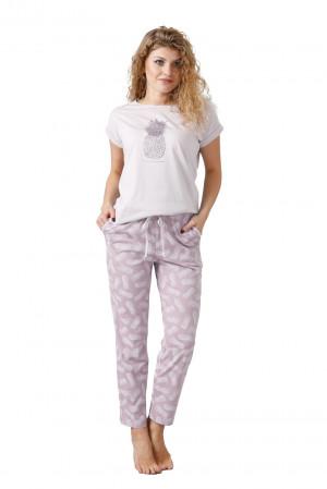 Dámské pyžamo BELLA 1032 liliová 2XL