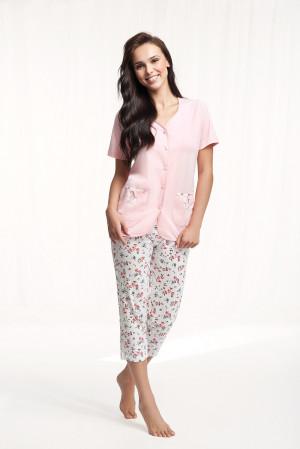 Dámské pyžamo Luna 632 kr/r 4XL růžová 4XL