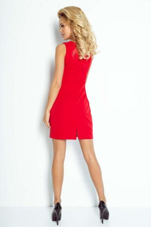 Dámské společenské šaty MADLENE bez rukávů krátké červené - Červená - Numoco červená