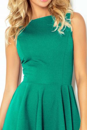 Společenské a plesové exkluzivní šaty s kolovou sukní krátké zelené - Zelená - Numoco modrozelená