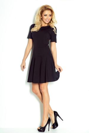 Dámské společenské a casual šaty LACOSTA s krátkým rukávem černé - Černá / S - Numoco černá
