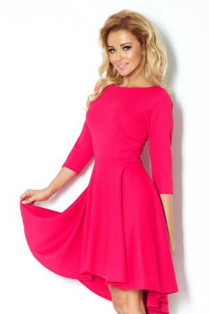 Dámské společenské šaty NUMOCO s asymetrickou sukní malinové - Malinová / S - Numoco malinová