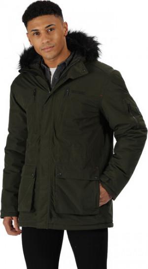 Pánská zimní bunda RMP235 SALINGER - Regatta khaki-černá 3XL