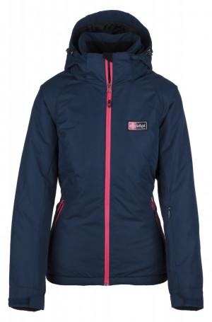 Dámská lyžařská bunda CHIP-W - Kilpi tm. modrá s růžovou 38/M