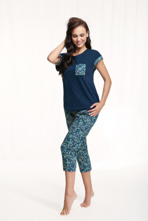 Dámské pyžamo Luna 602 kr/r 3XL tmavě modrá 3XL