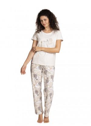 Dámské pyžamo L-1395PY béžová