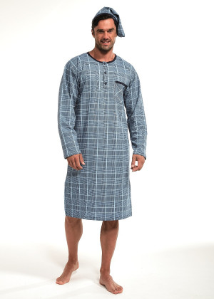 Pánská noční košile 110/640802 - Cornette modrá
