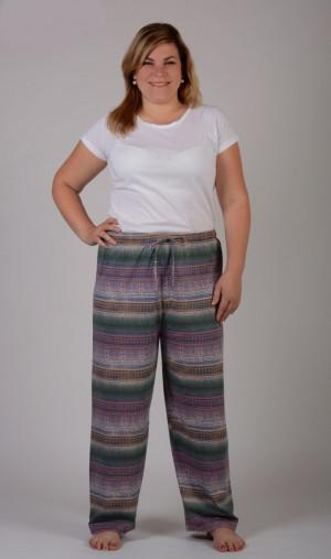 Dámské pyžamové kalhoty Olga - Vienetta Mix barev 2XL