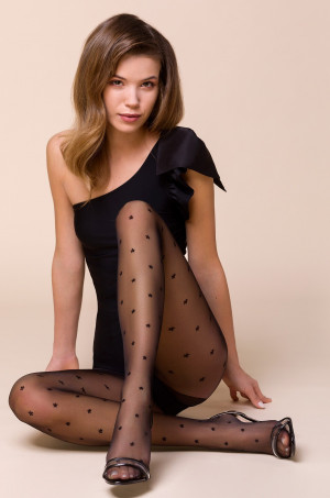 Dámské punčochové kalhoty Gabriella 457 Stars Nero 5XL nero 5-XL